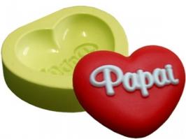 Molde de Silicone Coração Papai
