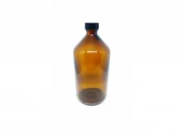 Vidro Âmbar 500 ml (Com tampa e Batoque plastico)