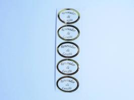 Etiqueta Renovador de Lençóis Dourada 30 Unidades