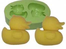 Molde de Silicone Patinhos Mini 2 cav.