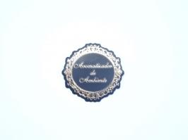 Etiqueta Luxo Aromatizador de Ambiente Preta com Dourada(Unidade)