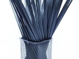Varetas de Fibra Preta 25 cm (Pacote c/10 unidades)