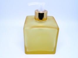 Vidro Saboneteira Cubo Amarelo 350 ml