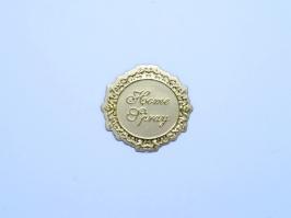 Etiqueta Luxo Home Spray Dourada(Unidade)