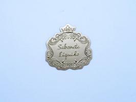 Etiqueta Luxo Coroa Sabonete Liquido Dourada(Unidade)
