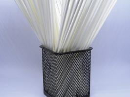 Varetas de Fibra Branca 25 cm(Pacote c/10 unidades)