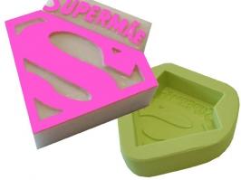 Molde de Silicone Super Mãe